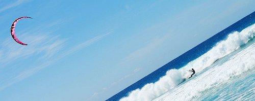 Kitesurfing på Boca Grandi (Aruba)